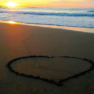 spiaggia cuore
